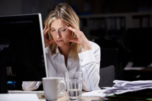 frazzled career woman 300x200 Why Do Professional Women Struggle with Online Dating?