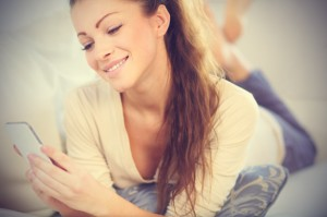 pretty-young-woman-texting