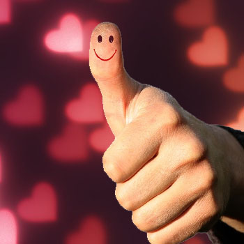 thumbs up Signs That a Guy Likes You