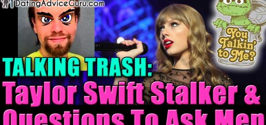 image of taylor swift and stalker with text questions to ask men